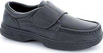 Dr Keller Tony Herren Klettverschluss Bar Komfort Weite Passform Schuhe Schwarz, Schwarz - schwarz - Größe: 45