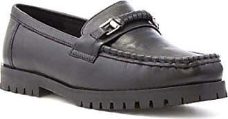 Dr Keller Schwarzer Lederner Müßiggänger-Schuh der Frauen - Größe 6 UK/39.5 EU - Schwarz 8Au1yKy