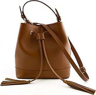 Echtes Leder Damen Handtasche Farbe Beige - Italienische Lederwaren - Damentasche Dream Leather Bags Made in Italy vRuHNu6Kpm