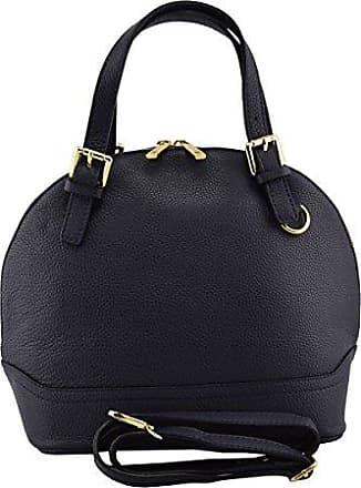 Mini Echtes Leder Damen Umhängetasche 3 Innenfächer Farbe Blau - Italienische Lederwaren - Damentasche Dream Leather Bags Made in Italy b6BUMaggQ