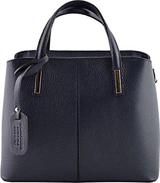 Schultertasche Aus Echtem Leder Farbe Dunkelblau - Italienische Lederwaren - Damentasche Dream Leather Bags Made in Italy hcYNCqyV