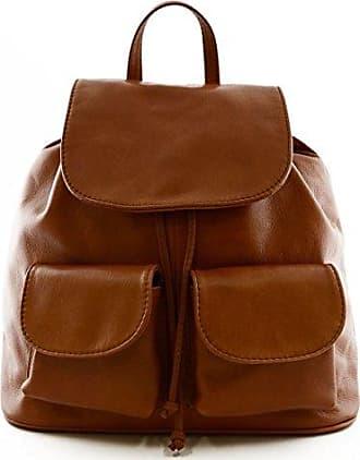 Damen Leder Handtasche Farbe Cognac - Italienische Lederwaren - Damentasche Dream Leather Bags Made in Italy DXg3Ksli