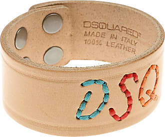 Dsquared2 Bracelet for Men On Sale in Outlet, Red, Leather, 2017, Small