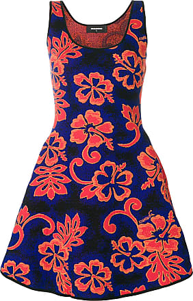 floral patterned dress - Yellow & Orange Dsquared2 I2qtgH