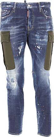 Des Jeans En Vente, Jean Maigre, Bleu Denim, Coton, 2017, 28 32 34 36 Dsquared2