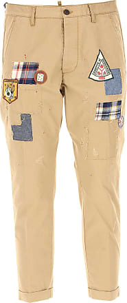Pants for Men On Sale, Camel, Cotton, 2017, 32 36 Dsquared2
