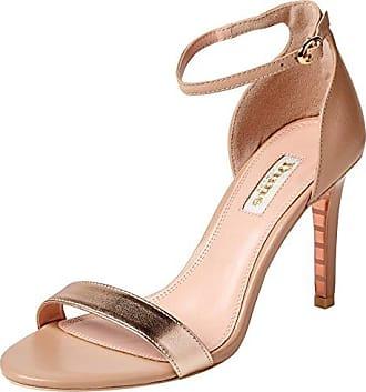 Catelyn, Zapatos con Tacon y Tira Vertical para Mujer, Beige (Nude Nude), 38 EU Dune London