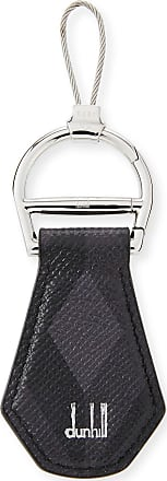 Dunhill Signature Leather Key Chain, Gray