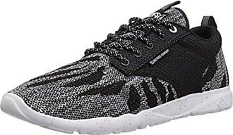 DVS Shoes Portal, Zapatillas para Hombre, Schwarz (Black White Red Leather), 48.5 EU