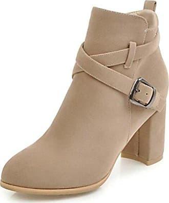 Easemax Damen Elegant Schleife Quadratisch Zehe Kurzschaft Stiefel Mit Absatz Braun 37 EU 8qvlA