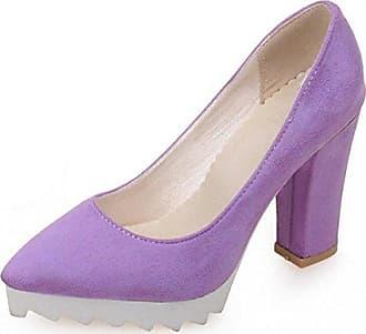 SHOWHOW Damen Chic Schleife Spitz Zehe Low Top High Heels Pumps Blau 36 EU WFWdfesN
