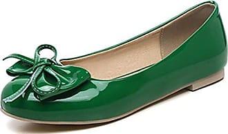 LEIT Flache Schuhe von Frauen Dünne Schuhe Casual Spitzen Flachen Mund Butterfly Knot, Khaki, 38