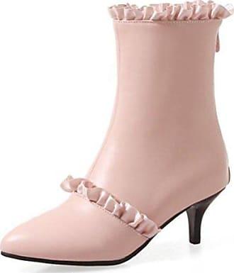 Easemax Damen Warm Hohe Plateau Metall Riemen High Top Stiefel Mit Absatz Weiß 38 EU rwxIe0i