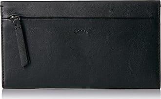 Ecco Womens Sculptured Large Wallet, Black, 1.5x11x19 cm (Wxhxd) Ecco