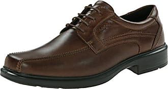 Ecco Howell - Zapatos con Cordones de Cuero, Hombre, Color Marrón, Talla 43