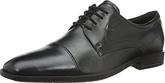 Ecco Harold - Zapatos con Cordones de Cuero, Hombre, Color Negro, Talla 40