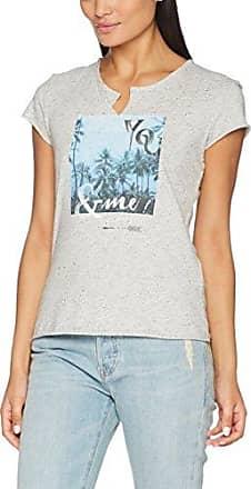 057cc1k038, T-Shirt Femme, Gris (Light Grey 5), 42 (Taille Fabricant: X-Large)EDC by Esprit