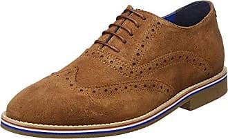 Zapato Oxford Ante, Richelieus Homme, Bleu (Marino Único), 43 EUEl Ganso