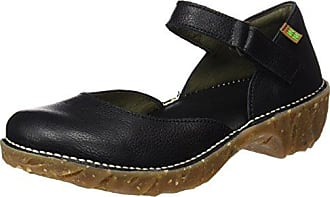 N376, Zapatos Mary Jane Mujer, Negro (Black), 37 EU El Naturalista