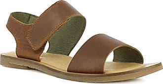 El Naturalista Damenschuhe N5032 Mola Modische Damen Sandale, Sandalette mit Korkfussbett und Klettverschluss Am Knöchelriemchen Grau (Piedra), EU 41