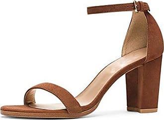 SHOWHOW Damen Peep Toe Blockabsatz Sandale Mit Schnalle Schwarz 36 EU 38k6MRnNWO