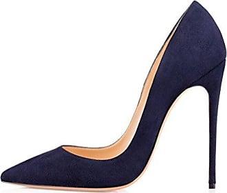 Damen Camouth 12CM Keilabsatz Schlüpfen Stiefel Schuhe, Beige, 38 Calaier