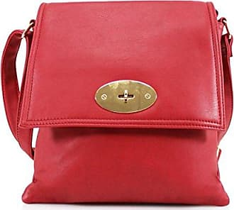 Damen Schultertasche Medium, rot - rot - Größe: Medium Elegant Lighting