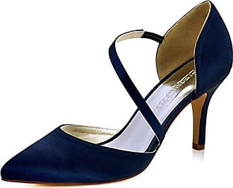 Damen Pumps, blau - Blue-10cm Heel - Größe: 36 Minitoo