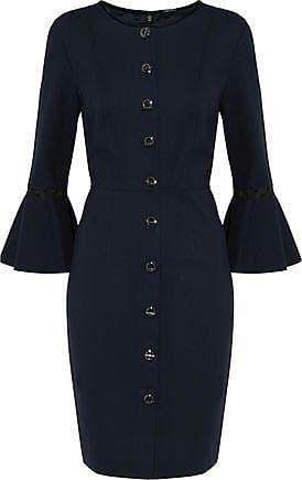 Elie Tahari Woman Rosario Houndstooth Wool-blend Mini Dress Anthracite Size 12 Elie Tahari v4jjGjNHCb