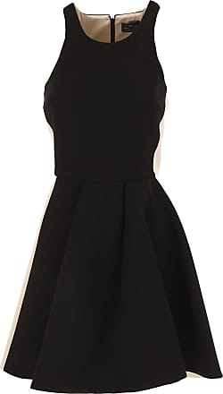 Dress for Women, Evening Cocktail Party On Sale, Black, polyester, 2017, 10 12 6 Elisabetta Franchi