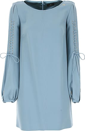 Dress for Women, Evening Cocktail Party On Sale, Sky Blue, Viscose, 2017, 10 8 Elisabetta Franchi