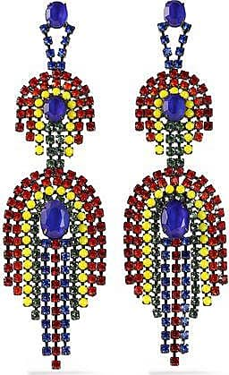 Elizabeth Femme Cole Boucles D'oreilles En Cristal Tons Or Rouge Taille Elizabeth Cole 1K2ox95n