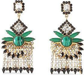 Elizabeth Cole Elizabeth Cole Woman Beaded Gold-tone And Crystal Necklace Gold Size TTRa7uBjZG