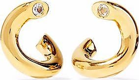 Elizabeth & James Elizabeth And James Woman Gold-plated Crystal Earrings Gold Size QJNOH