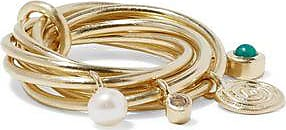 Elizabeth & James Elizabeth And James Woman Gold-tone, Crystal, Faux Pearl And Stone Ring Gold Size 7