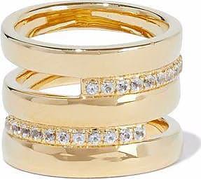 Elizabeth & James Elizabeth And James Woman Gold-tone Crystal Ring Gold Size 6 oVYi34zI