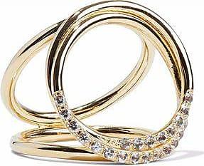 Elizabeth & James Elizabeth And James Woman Gold-tone Crystal Ring Gold Size 8 8Z1xS