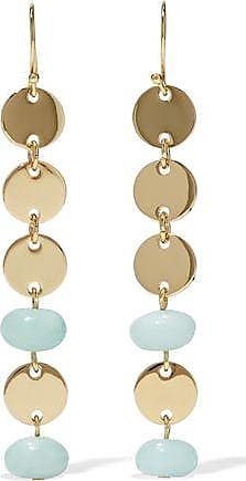 Elizabeth & James Elizabeth And James Woman Gold-tone Resin And Crystal Earrings Gold Size W3wbnPit