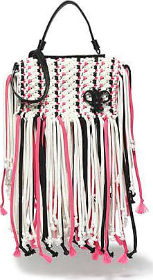 Cheap Prices Emilio Pucci Woman Fringed Tasselled Braided Leather Shoulder Bag White Size Emilio Pucci Clearance With Paypal Geniue Stockist Cheap Price Cheap 2018 New NkiWZT
