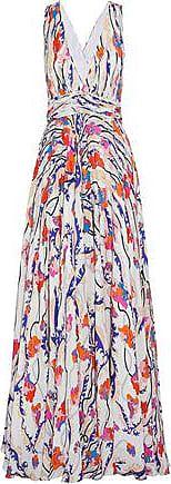 Emilio Pucci Woman Ruffled Printed Silk Crepe De Chine Blouse Brown Size 40 Emilio Pucci Cheap Sale Best Sale Nja2m