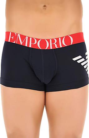 Boxer Briefs for Men, Boxers On Sale in Outlet, Black, Cotton, 2017, XL (EU 6) Emporio Armani
