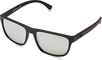 Emporio Armani 0EA4078 506387, Montures de Lunettes Homme, Noir (Black Rubber/Grey), 62