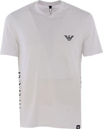 Camiseta de Hombre Baratos en Rebajas, Blanco, Algodon, 2017, S XXL Emporio Armani