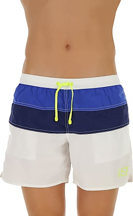 Mens Swimwear On Sale, Blue Navy, polyester, 2017, M (EU 48) XL (EU 52) Emporio Armani