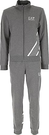 Mens Sportswear for Gym Workouts and Running On Sale, Dark Grey Melange, Cotton, 2017, S Emporio Armani