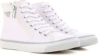 Sneakers for Women On Sale, White, Canvas, 2017, US 6 - UK 4.5 - EU 37 Emporio Armani