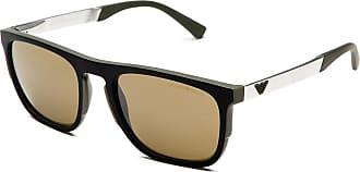 Emporio Armani Sonnenbrille Ea4114, UV 400, khaki schwarz
