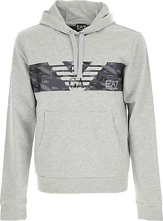 Sweatshirt for Men On Sale, Black, Cotton, 2017, L M S XL XXL Emporio Armani