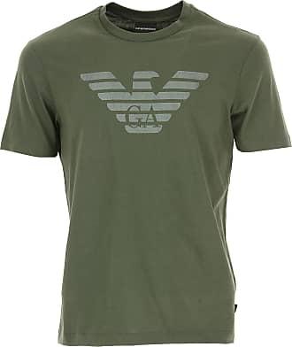 Camiseta de Hombre Baratos en Rebajas, Marina, Algodon, 2017, L M XL XXL Emporio Armani