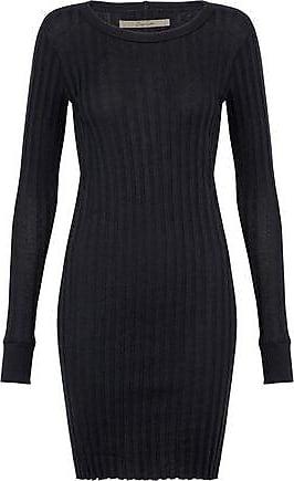 Enza Costa Woman Cashmere And Cotton-blend Midi Dress Dark Brown Size M Enza Costa EI0JIbq